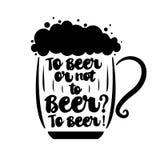 À la bière ou pas à la bière Photo stock