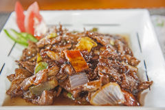 À la carte chinesische Mahlzeit auf kopierter Platte Stockfoto