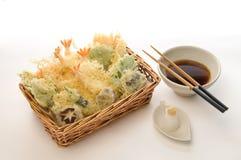À la carte grönsak- & räkaTempura Royaltyfri Foto