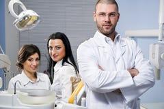 À la clinique dentaire photographie stock libre de droits
