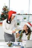 À la fête de Noël Image stock