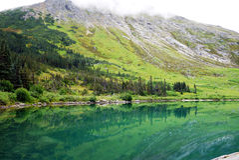 À la fin de la hausse de Dewey Lake supérieur, Skagway, Alaska photographie stock libre de droits