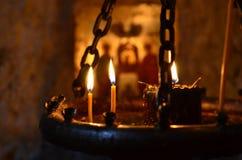 À la lumière d'une bougie 2 Images libres de droits
