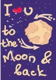 À la lune Images stock