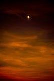 À la lune et au dos Photos libres de droits