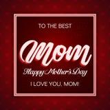 À la meilleure maman, célébration du jour de mère illustration de vecteur