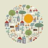 À la mode disparaissent le cercle vert d'icônes illustration libre de droits