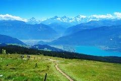 À la montagne de Niederhorn Images stock