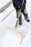 À la neige de pelle Photographie stock