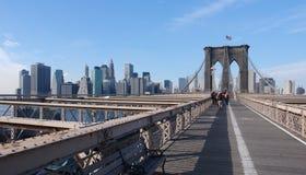 Au pont de Brooklyn photos libres de droits