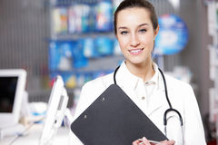 À la pharmacie image libre de droits