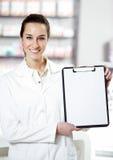À la pharmacie images stock
