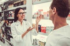À la pharmacie photo stock