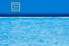 À la piscine Image libre de droits