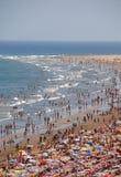 À la plage Images libres de droits