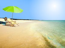 À la plage Photos libres de droits