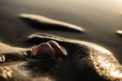 À la plage photographie stock