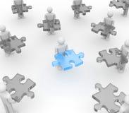À la recherche de la coopération illustration libre de droits