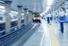 À la station de train Photographie stock libre de droits