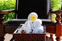 À la station thermale, concept dans une villa de luxe sur Bali Photo stock
