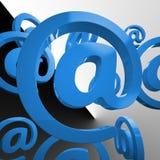À la transmission de messages d'email d'expositions de signe par le Web illustration stock