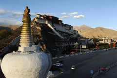 À Lhasa, le Thibet photographie stock libre de droits