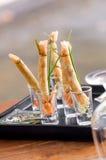 À lista rolo de mola fritado friável projetado em mini glas Foto de Stock Royalty Free