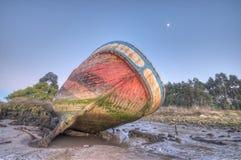 À marée basse échoué. Images libres de droits