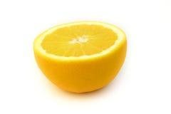 À moitié blanc orange Photo stock