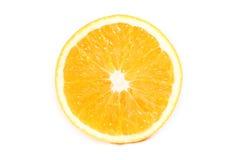 À moitié blanc orange Image stock