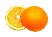 À moitié orange. Images libres de droits