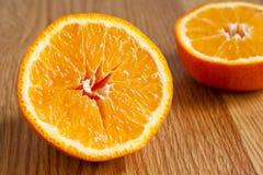 À moitié orange photographie stock