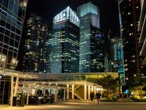 ืNacht in Singapur lizenzfreies stockfoto