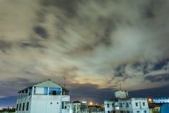 ์Night himmel för regn Arkivfoto