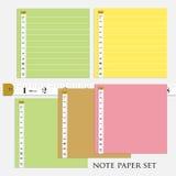 ืnutowy papier ustawia 4 różnego kolor z miarą taśma wektoru ilustracj Fotografia Royalty Free
