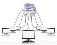 À panneau plat de World Wide Web connecté Images libres de droits