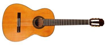 À pleine vue de la guitare acoustique espagnole Photographie stock