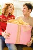 À qui cadeau est il ? Image stock