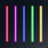 À rayon laser coloré lumineux réaliste Images libres de droits