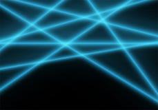 À rayon laser léger bleu abstrait sur le vecteur noir de fond de technologie illustration libre de droits