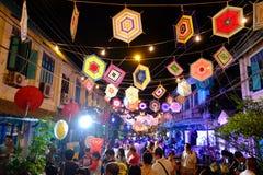 à¸'streetfestival i Bangkok Arkivfoton