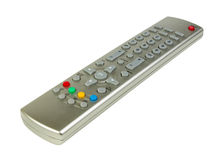 À télécommande de TV d'isolement Images stock