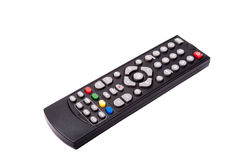 À télécommande de TV d'isolement sur le fond blanc Avec couper la PA Photo libre de droits