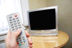 À télécommande et TV Image stock
