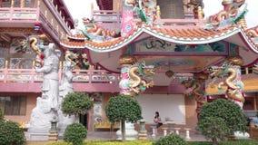 ืtempio cinese del najasaataichue, tiro della città di pattaya in 4k stock footage