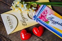 À tous les amour et bonheur ! Saint-Valentin heureuse ! Image libre de droits