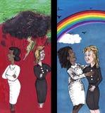 À travers la haine, amour actuel Images libres de droits