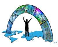 À travers le monde Image libre de droits