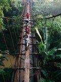 À travers le pont d'irrigation Image stock