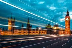 À travers Londres Photo stock